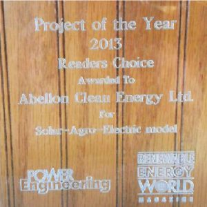 Abellon awarded Power Gen Project of the year
