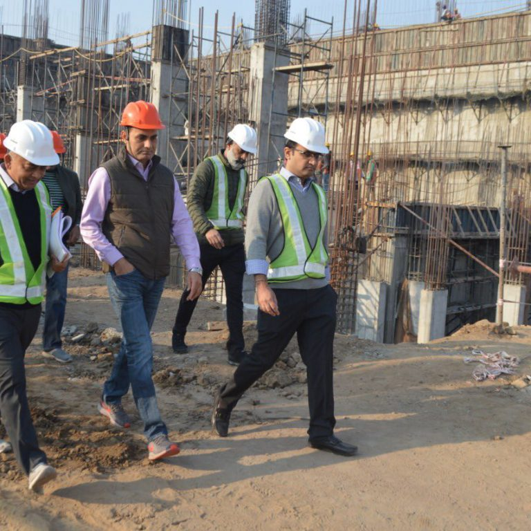 Ahmedabad Municipal Commissioner Shri Vijay Nehra at Abellon WTE site in Ahmedabad
