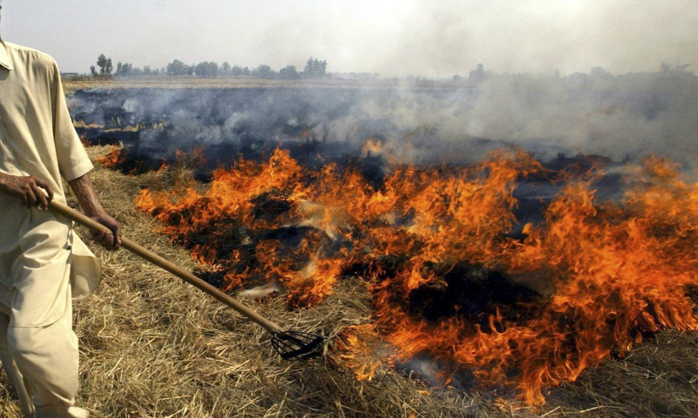 open burning of agriculutral waste
