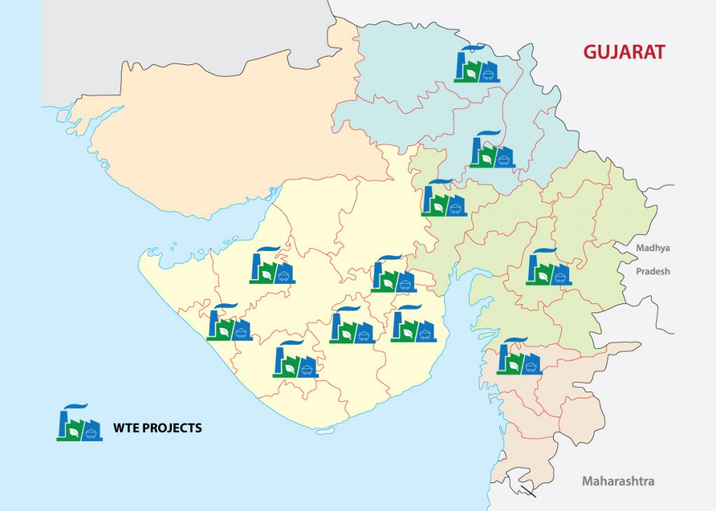 Upcoming WTE Projects in Gujarat